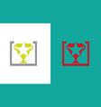 square trophy logo vector image