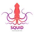 squid gradient logo concept vector image vector image
