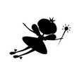 stencil fairy flying vector image vector image