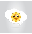 Sun in White Cloud vector image vector image