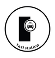 Taxi station icon vector image vector image