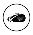 Tennis bag icon vector image