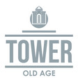 tower old age logo simple gray style vector image vector image