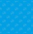 train pattern seamless blue vector image