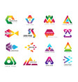 triangle logo business advertizing template vector image