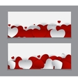 Valentine s Day Heart Card Love and Feelings vector image vector image