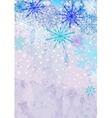 Vertical winter snowstorm background vector image vector image