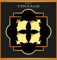 vintage ornamental golden retro frame template vector image