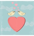vintage valentines day greeting card vector image vector image