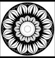 wheel lotus vector image