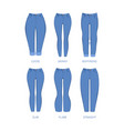 woman jeans fabric denim blue clothes for girls vector image