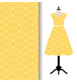 women dress fabric with yellow pattern vector image vector image