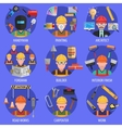 Worker Icons Set vector image vector image