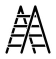 stairs icon black sign on vector image