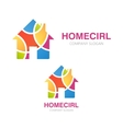 House logo design Creative real estate symbol or vector image
