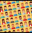 seamless pattern people avatar character icons vector image