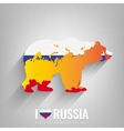 National Russia symbol Bear with an official flag vector image