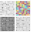 100 intelligent icons set variant vector image vector image