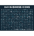 260 Flat Business Icons vector image vector image