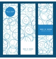 abstract blue circles vertical banners set pattern vector image