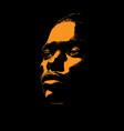 african woman portrait silhouette in contrast