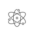 atom concept icon in thin line style vector image