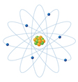 Atom structure vector image