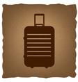 Baggage sign Vintage effect vector image