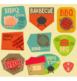 Barbecue Stickers vector image vector image