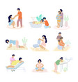 birth positions set flat isolated vector image