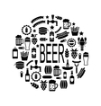 Black Icons of Beer and Snacks vector image vector image