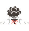bouquet flowers icon vector image vector image