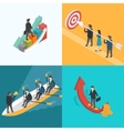 Business Growth Teamwork Target concept