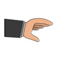 business hand with palm open vector image vector image