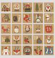 christmas advent calendar hand drawn style vector image vector image
