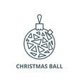 christmas ball line icon christmas ball vector image vector image