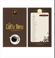 coffee time elegant banner vector image vector image