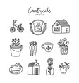 countryside romance doodles collection vector image vector image