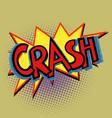 crash comic text vector image