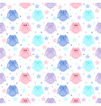 cute blue light blue pink and violet owls with vector image