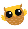 cute owl on white background vector image vector image