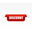 discount tag or label sign vector image vector image