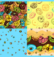 donut patterns vector image vector image