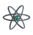 drawn atom molecule structure model vector image vector image