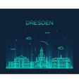 Dresden skyline linear style vector image vector image