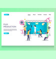 film production website landing page design vector image vector image