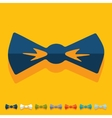 Flat design bow tie vector image