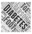 Foot Complications of Diabetes Word Cloud Concept vector image