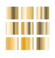 gold gradient palette swatches vector image
