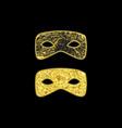 gold masquerade masks vector image